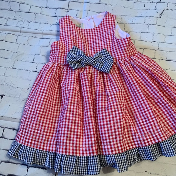 NWT Girls Red White Blue Stripe Marmellata Sleeveless Sun Dress 18 Months